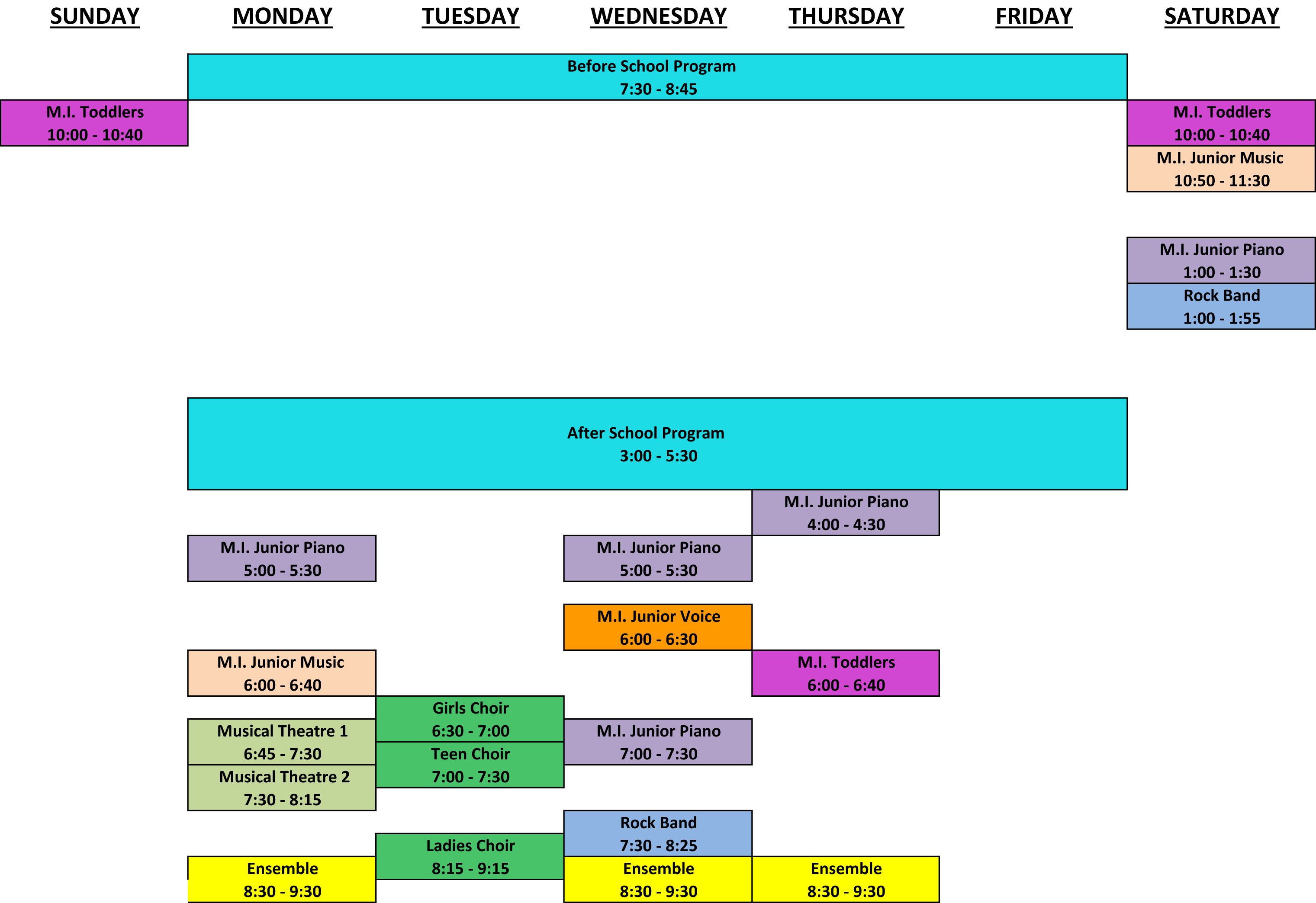 Group Class Schedule graphic Sept 2021